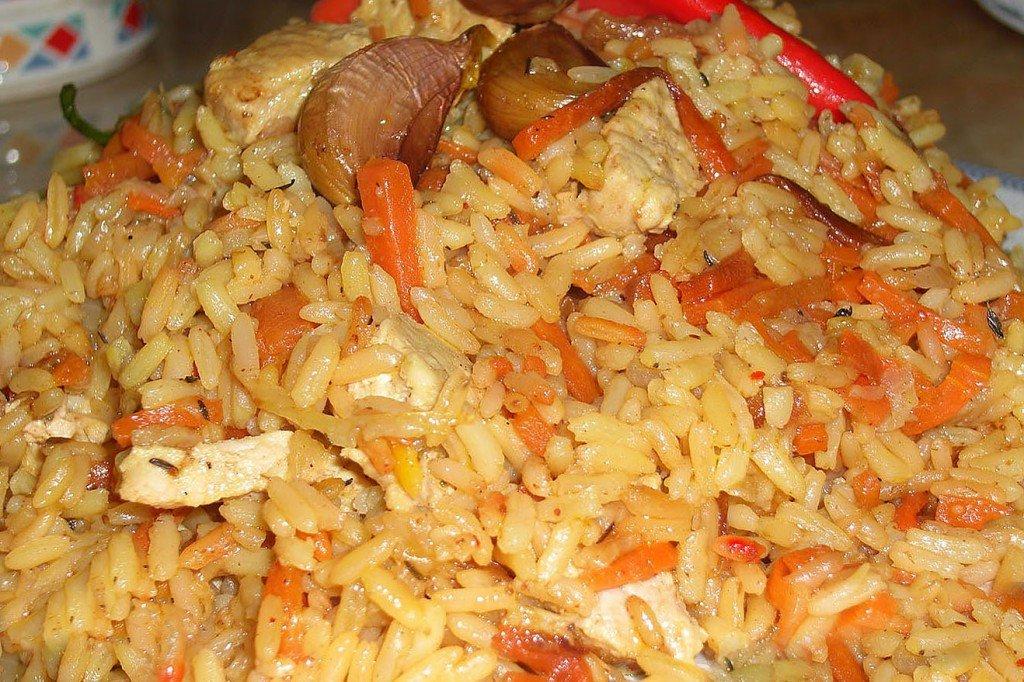 Курица с рисом в казане рецепт с пошагово
