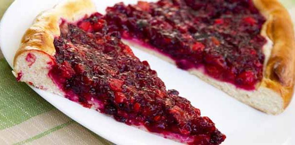 Брусничный пирог быстрый рецепт