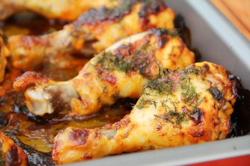 рецепт куриные голени в медовом соусе в духовке
