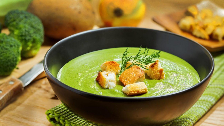 Пошаговый Рецепт крем-супа из брокколи без сливок с фото