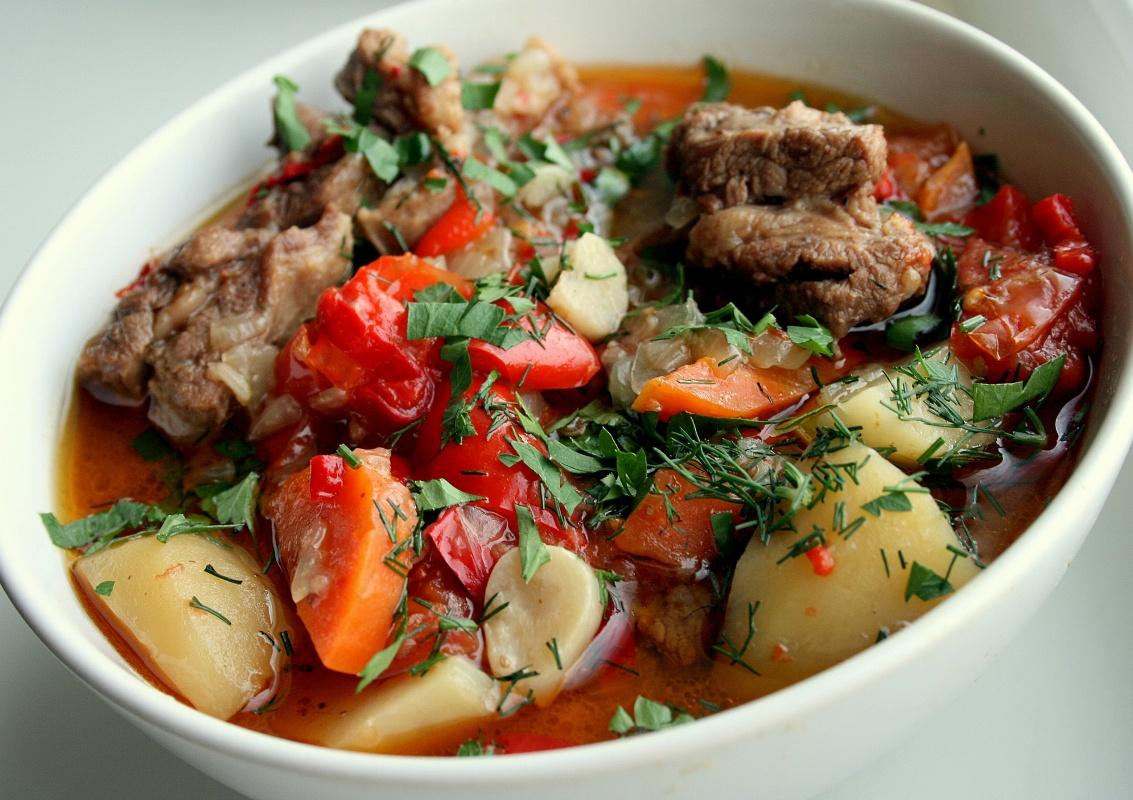 Фото рецепт армянской хашламы из баранины