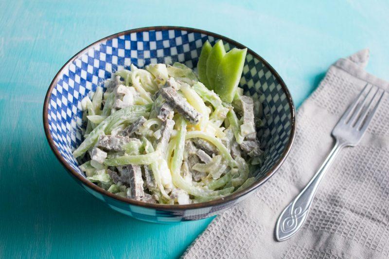Салат из куриных желудков - 8 рецептов приготовления