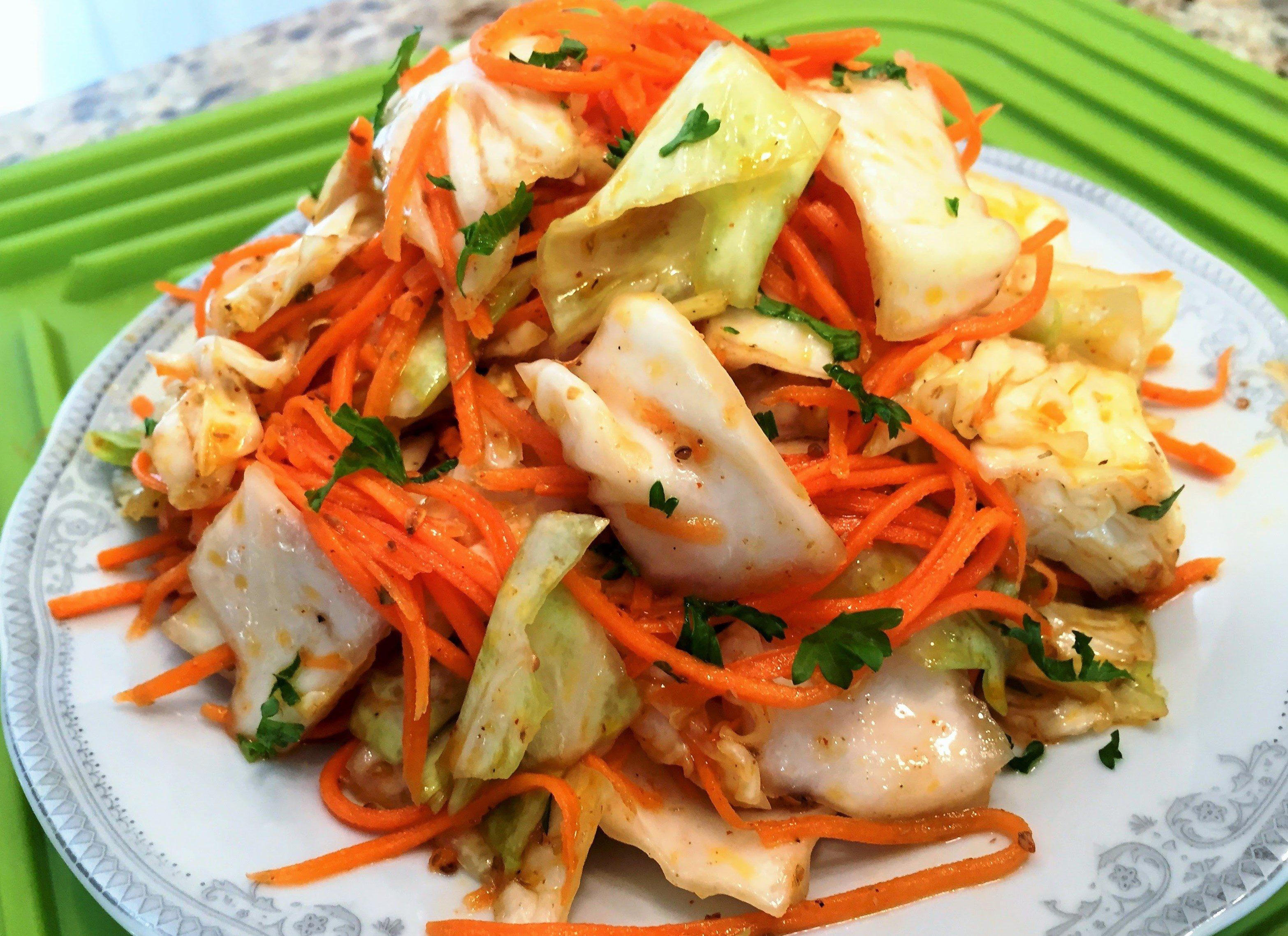 вот личной салаты из корейской капусты рецепты с фото подиума разделись