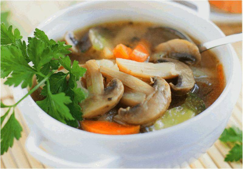 Суп из шампиньонов — 8 рецептов приготовления