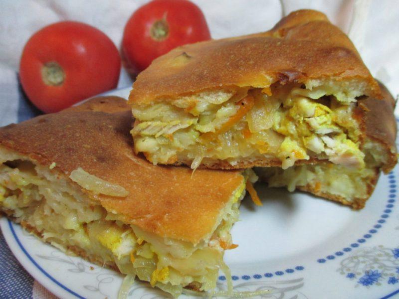Заливной пирог на кефире с капустой - 6 рецептов быстрых и вкусных