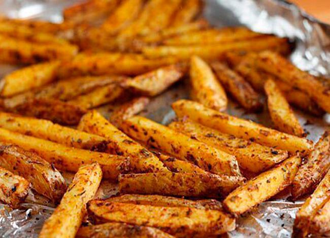 Картошка фри в духовке с яичным белком 5