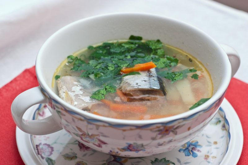 рецепт супа из консервированной горбуши