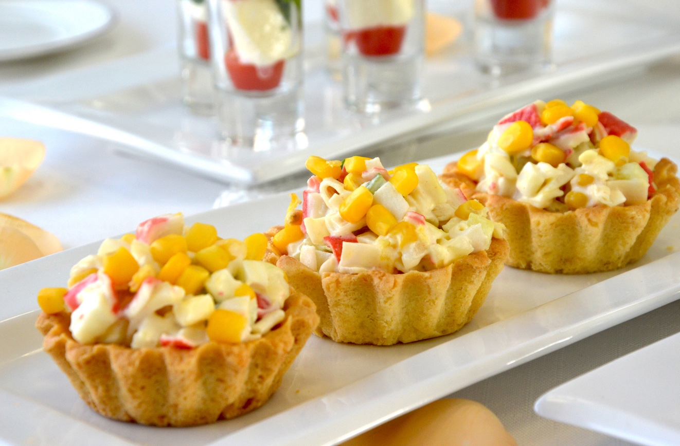 Закуски в тарталетках с разными начинками рецепты с фото видео