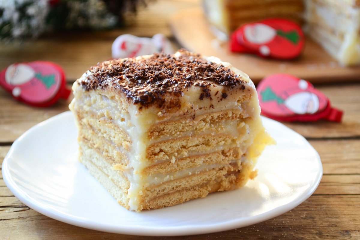 Торт из печенья без выпечки за 15 минут