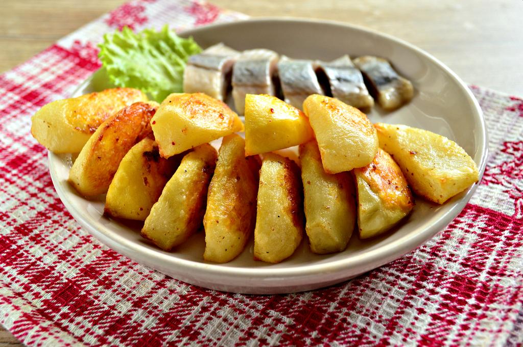 Картинка запеченная картошка