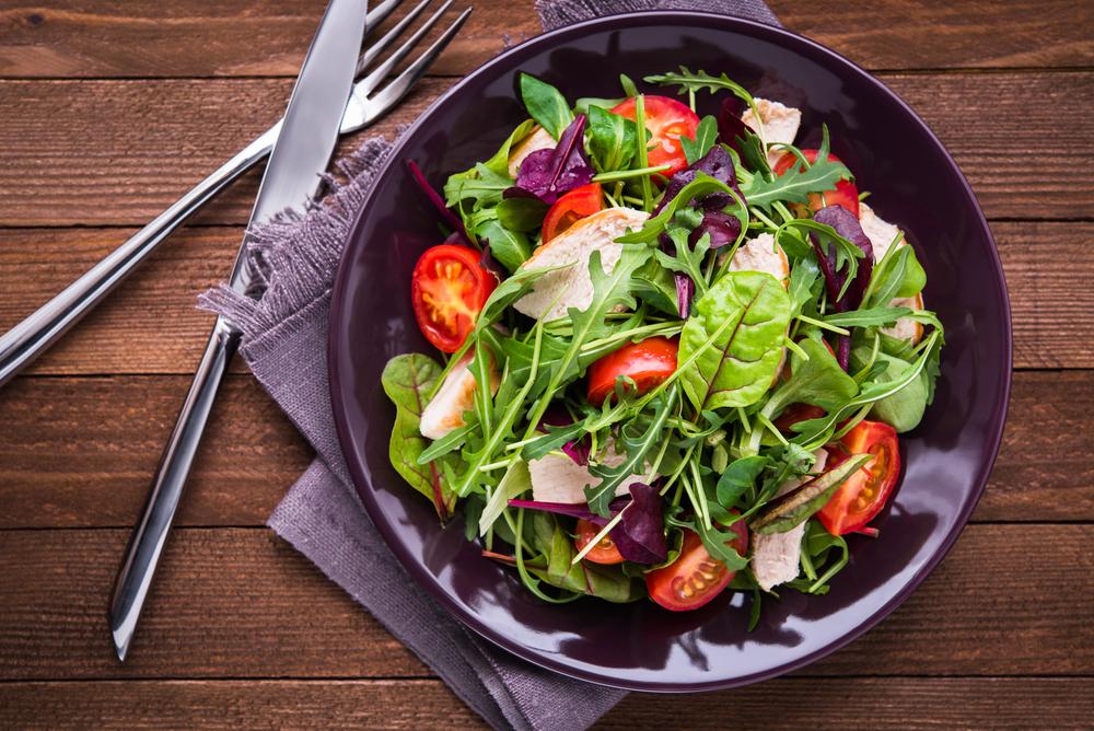 Вкусные салатики на диете