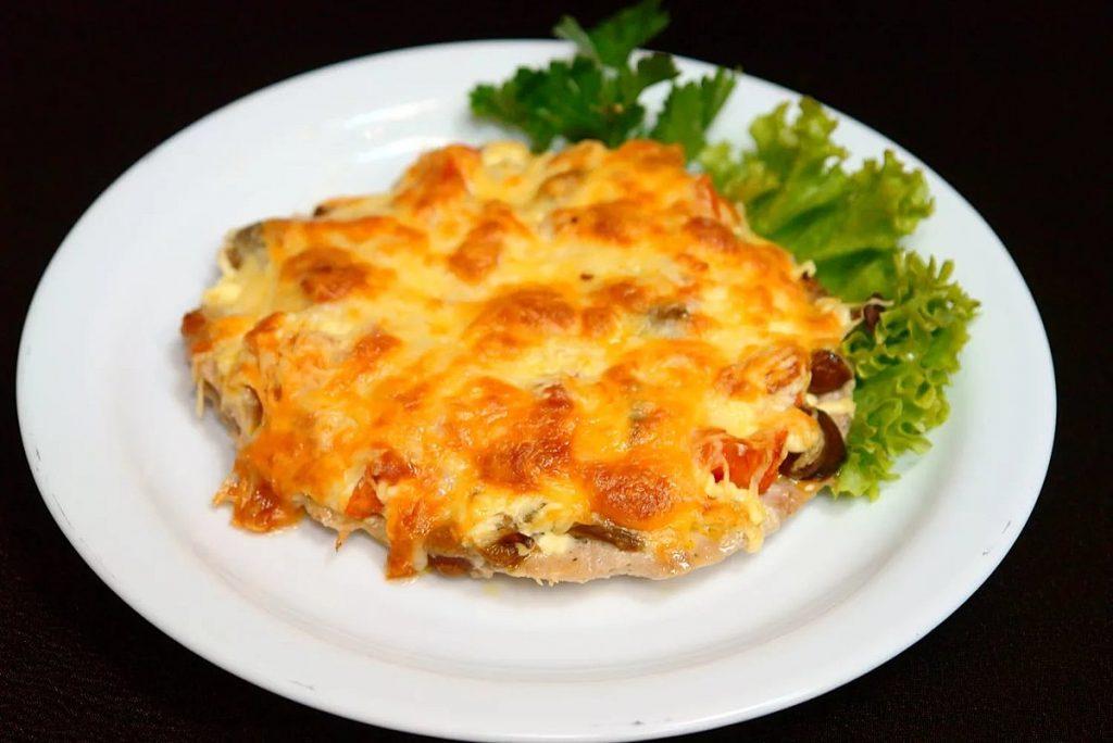 мясо по карски с грибами рецепт