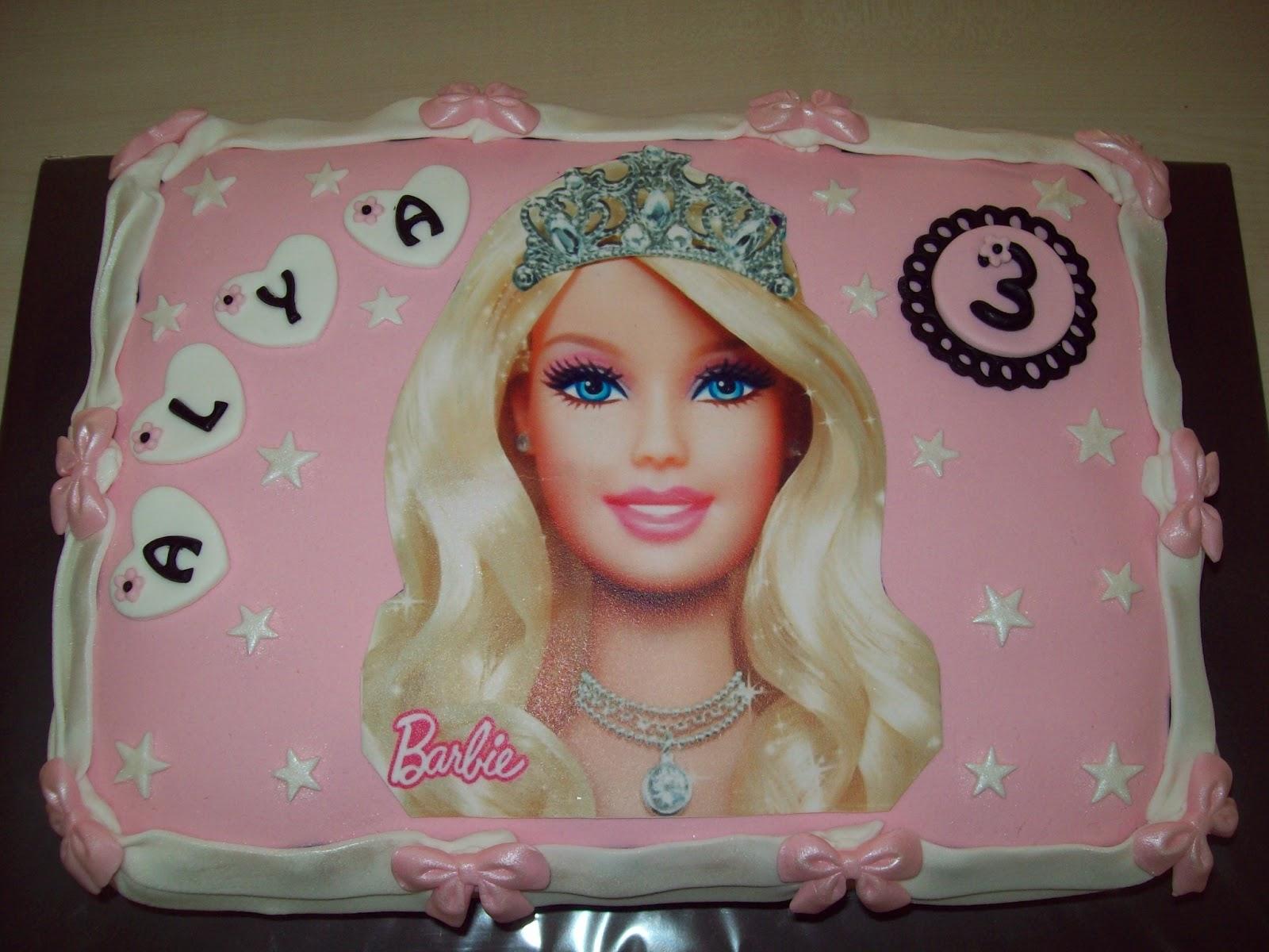 Картинки тортов с барби