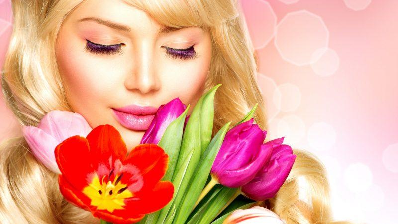Изображение - Поздравления женщине с днем рождения коротко devushka-blondinka-model-3581-1-800x450