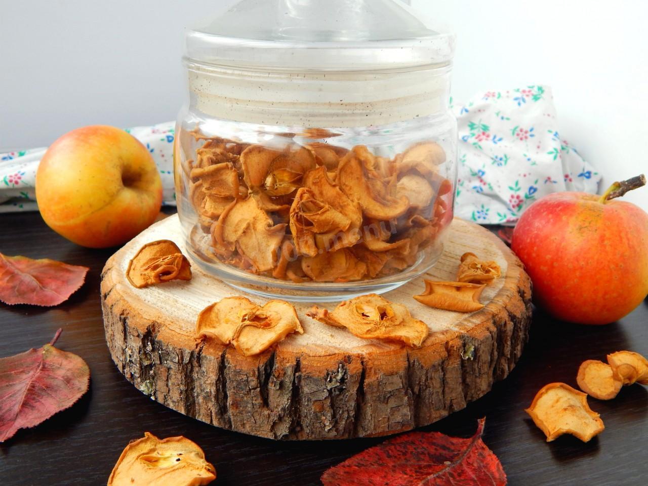 Как в духовке сушить яблоки на сухофрукты