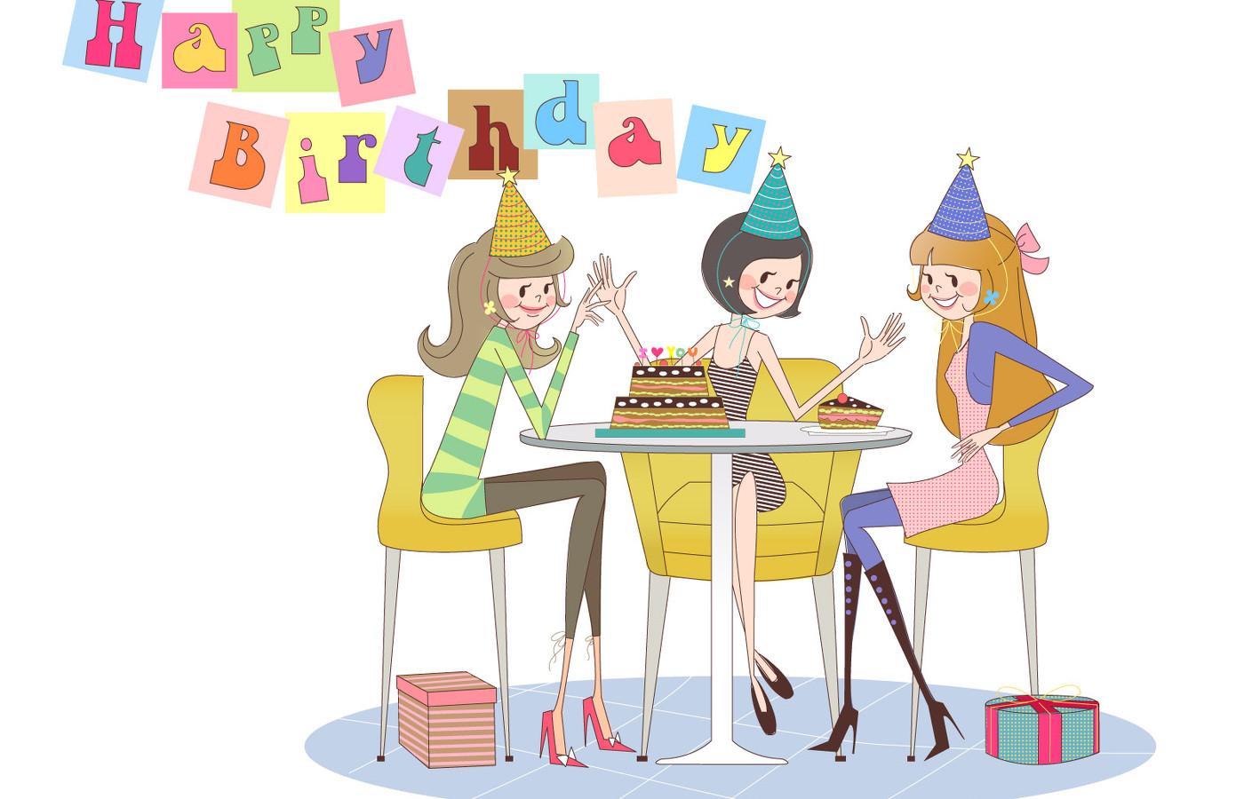 Гифки, открытки с днем рождения от подруг прикольные