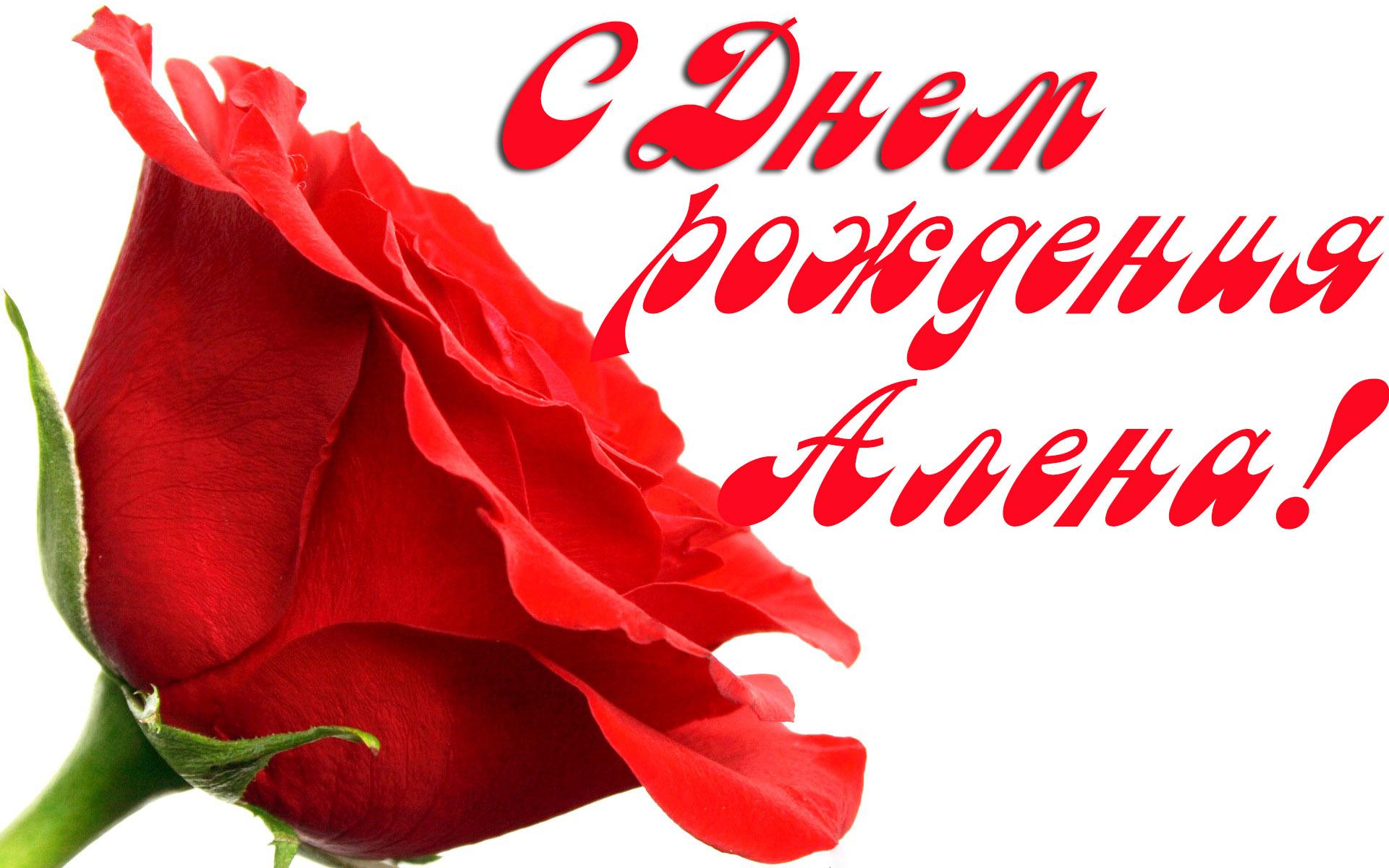Пожелания, поздравления алену с днем рождения открытка