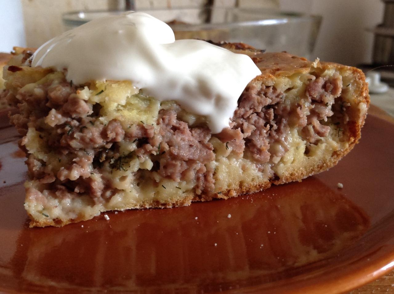 заливной мясной пирог рецепт с фото раньше