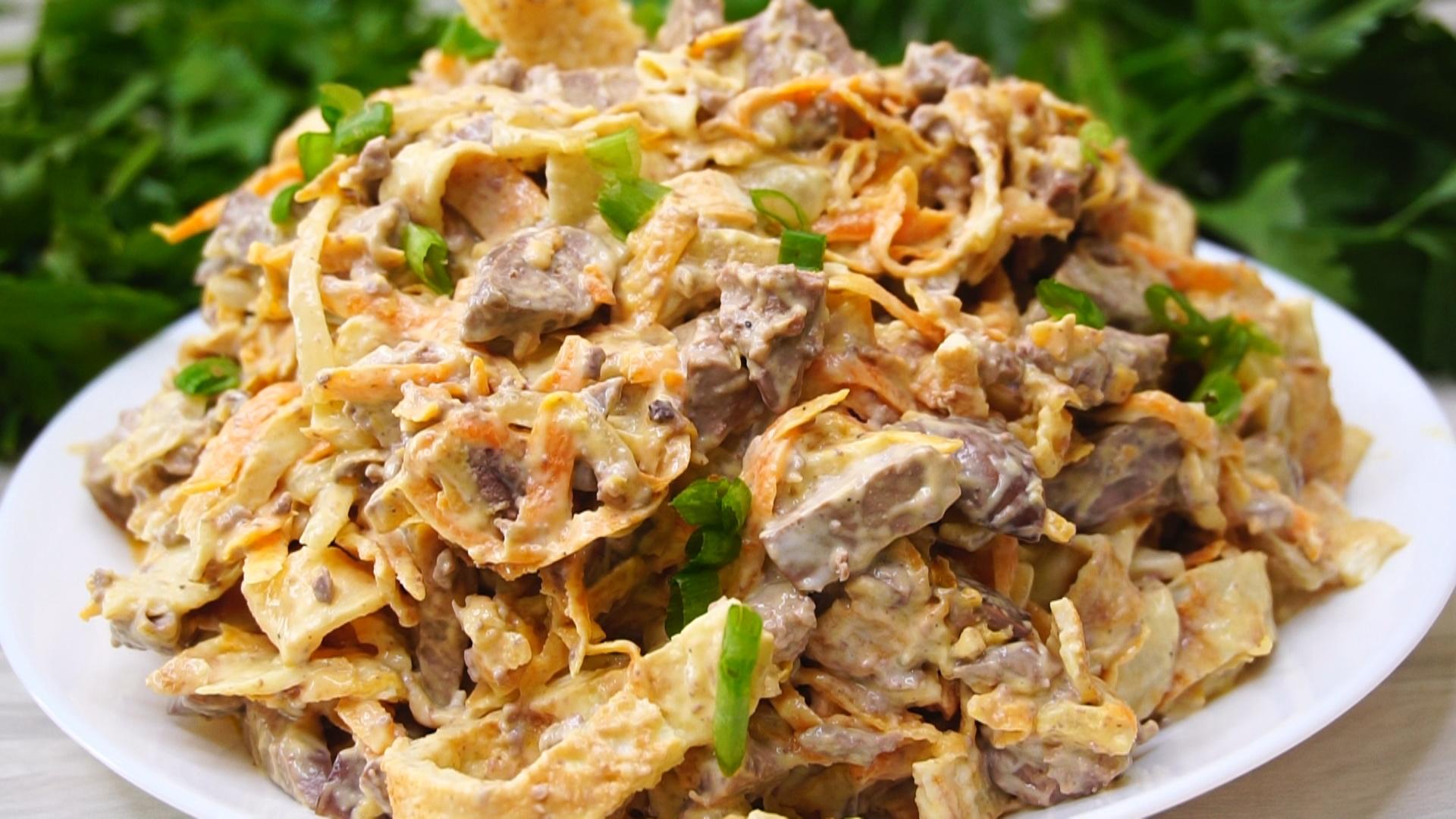 Блинный салат - 7 очень вкусных рецептов приготовления