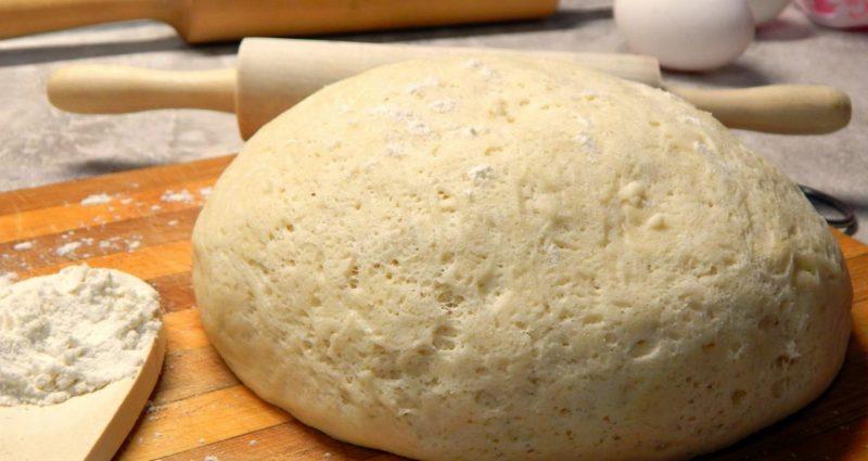Дрожжевое тесто на сметане - рецепт приготовления