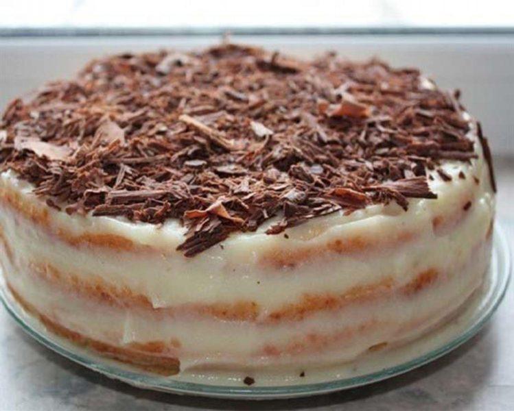 Сметанный торт на сковороде - как приготовить сметанный торт со сметанным кремом, пошаговый рецепт с фото