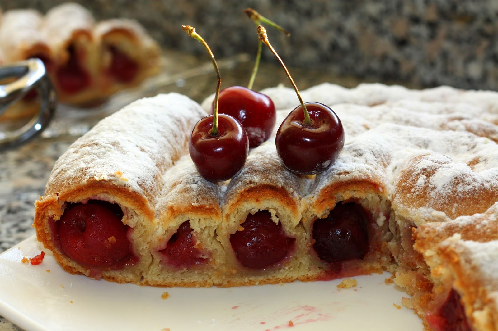 разстались вишневый пирог рецепт простой с фото очень тонкими