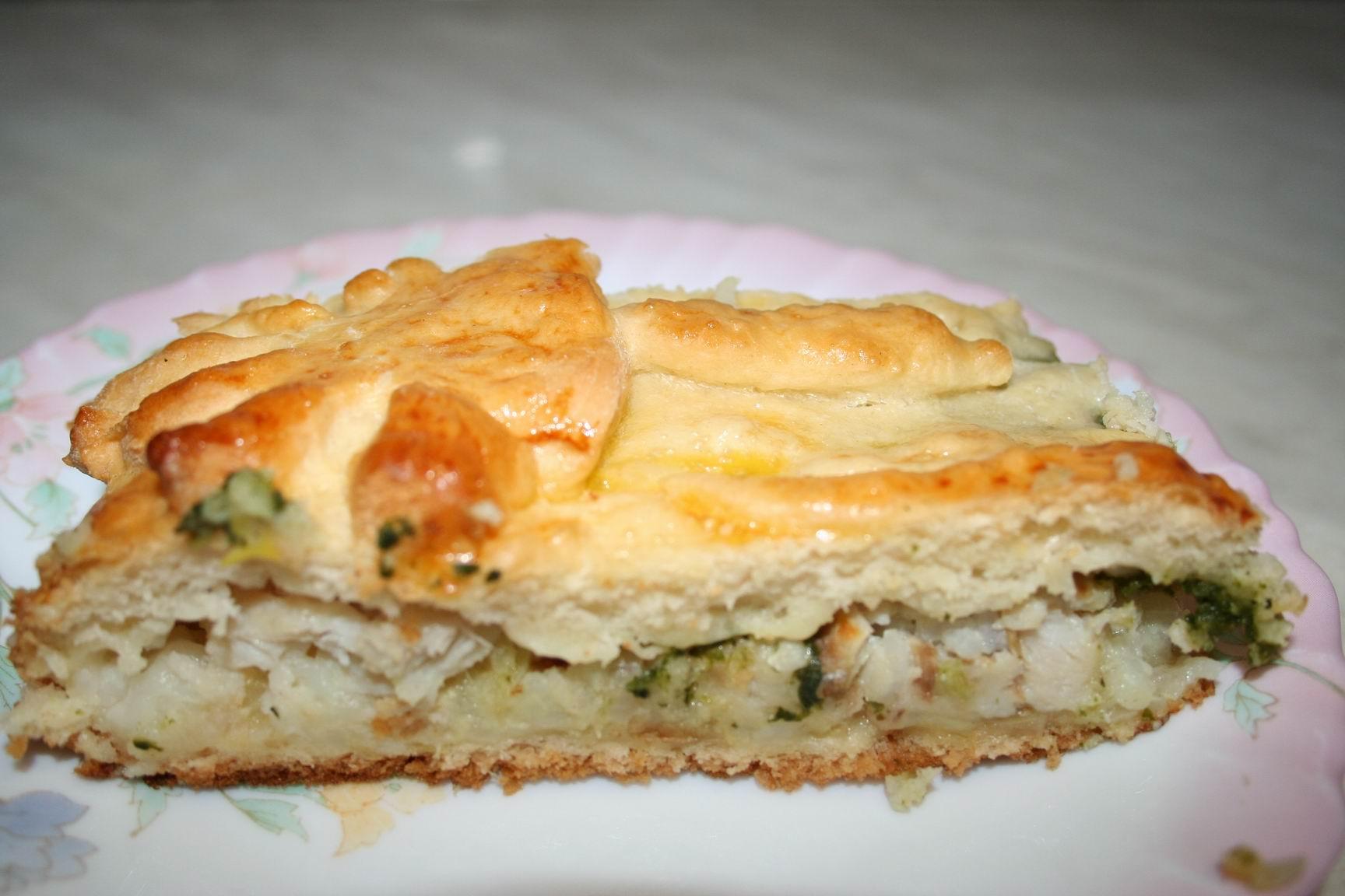 постный рыбный пирог рецепт с фото двух слоев, где