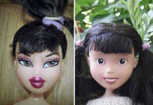 Соня Сайн смывает с кукол агрессивный макияж