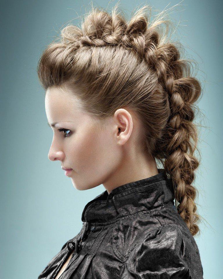 Картинки причесок на средние волосы из кос