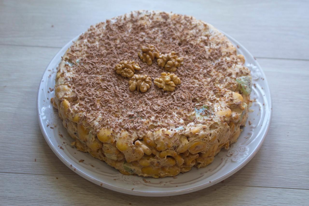 Как сделать торт из рыбок печенье — pic 1