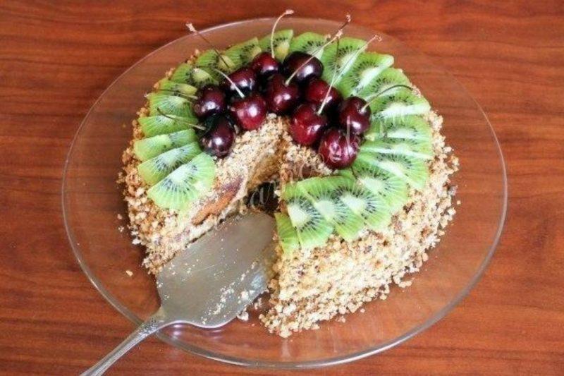 Торт из пряников с бананами – 5 быстрых рецептов без выпечки
