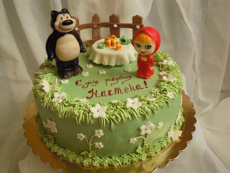 Торт маша и медведь фото из крема