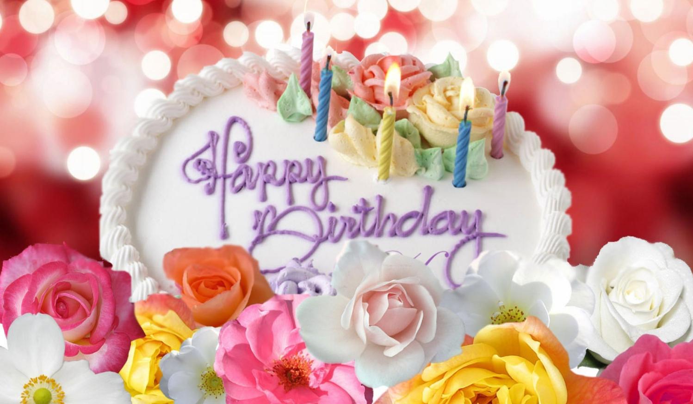 Английские открытки с цветами с днем рождения, днем