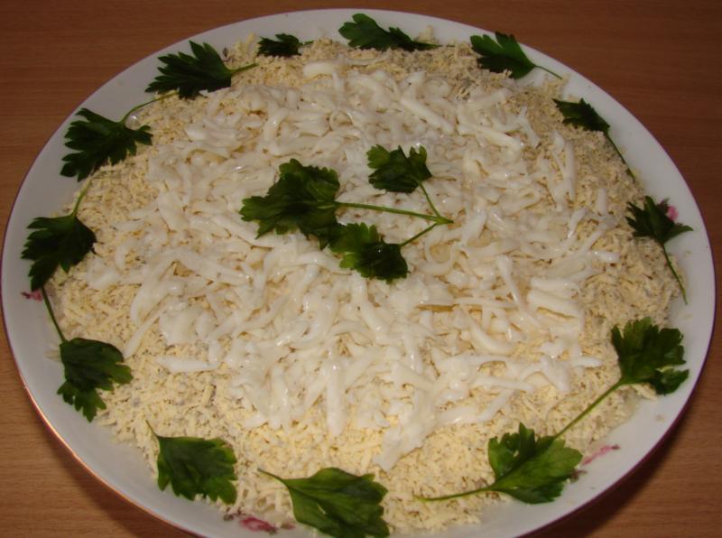 Салат Белый лебедь - 5 пошаговых рецептов приготовления
