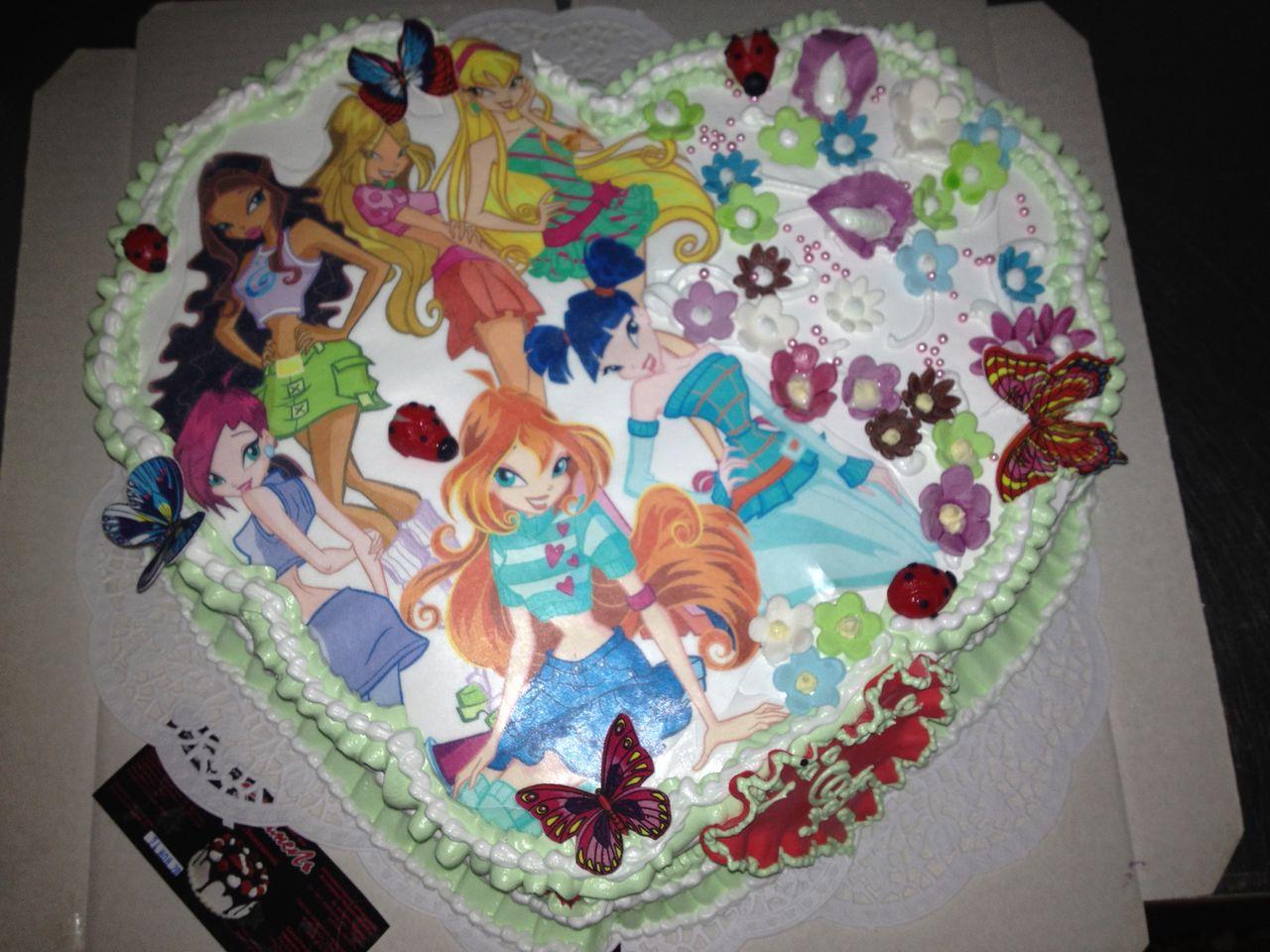 Картинка торт винкс