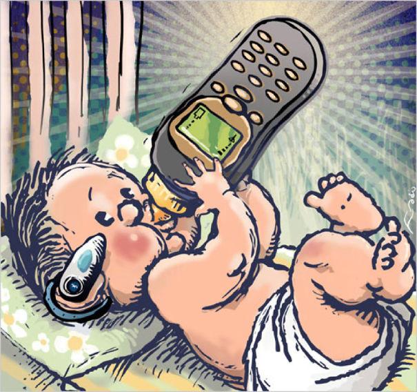 смешные рисунки про телефон масштаб