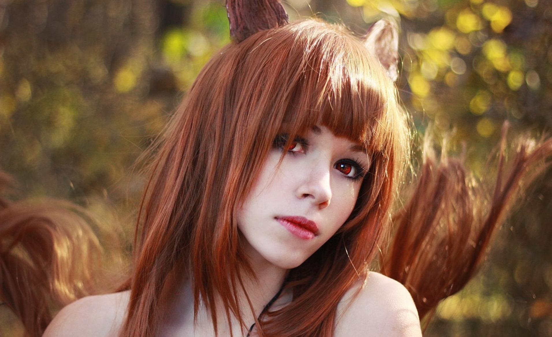 Девушка с лисьими ушками картинки