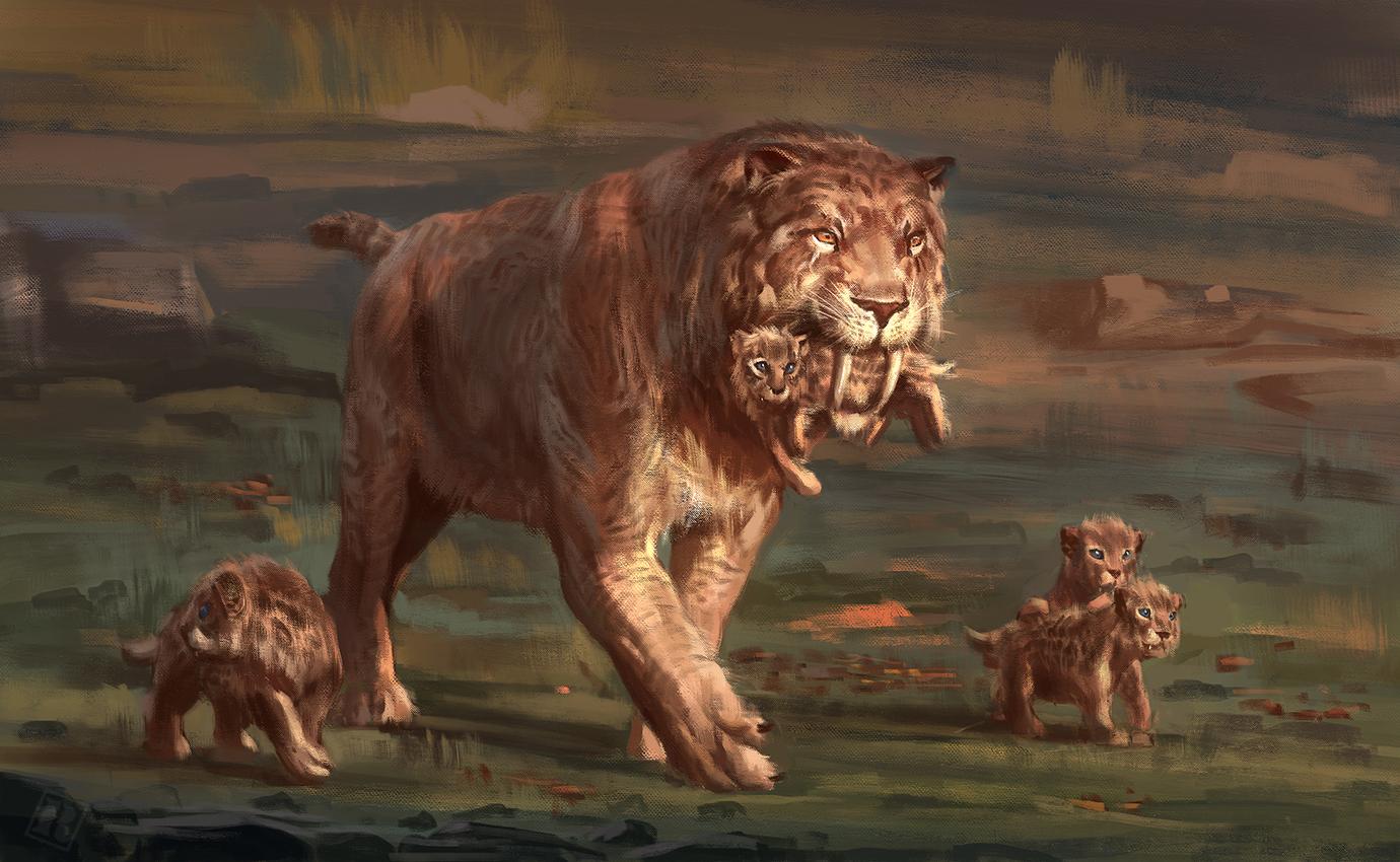 Картинки про саблезубых тиграх