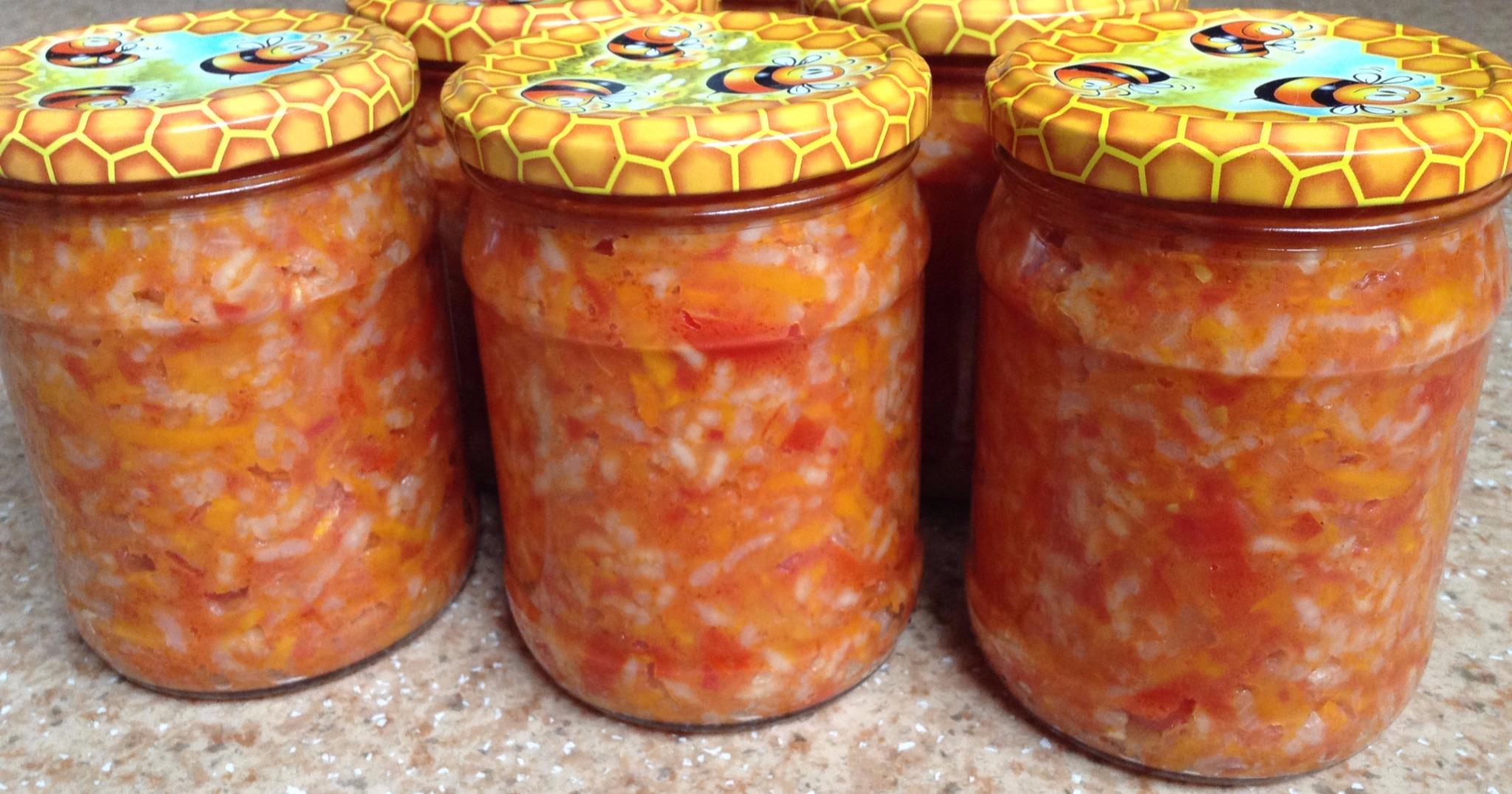 Рисовый салат на зиму рецепты с фото