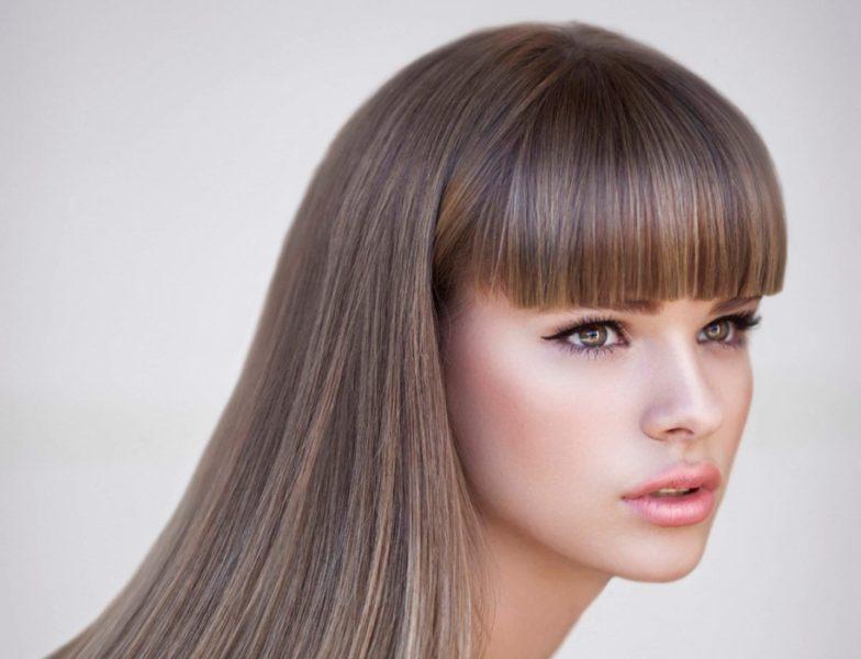 Прямая челка с удлинением и без на средние и длинные волосы - 10 вариантов стрижек и причесок, как ее подстричь и уложить, фото
