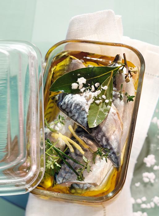 Скумбрия порадует своим пикантным вкусом и ароматом.