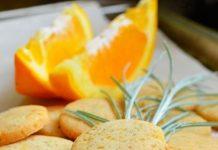 Домашнее постное печенье с апельсином
