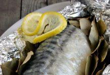 Скумбрия с лимоном в фольге в духовке
