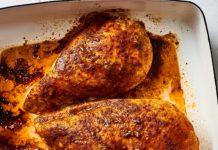 куриная грудка в соево-томатном маринаде