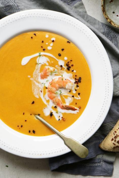 суп с имбирем и сливками