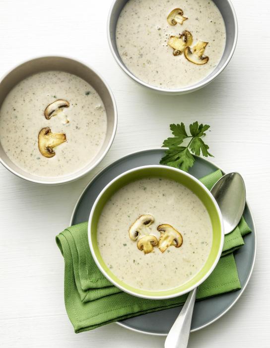 суп с плавленным сыром из шампиньонов