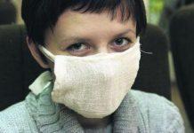 Медицинская маска для лица из бинта