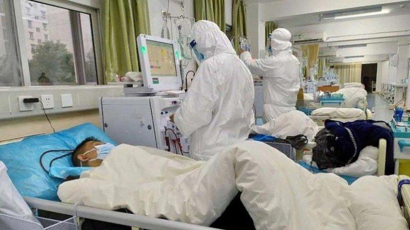 Пациент с коронавирусом в больнице